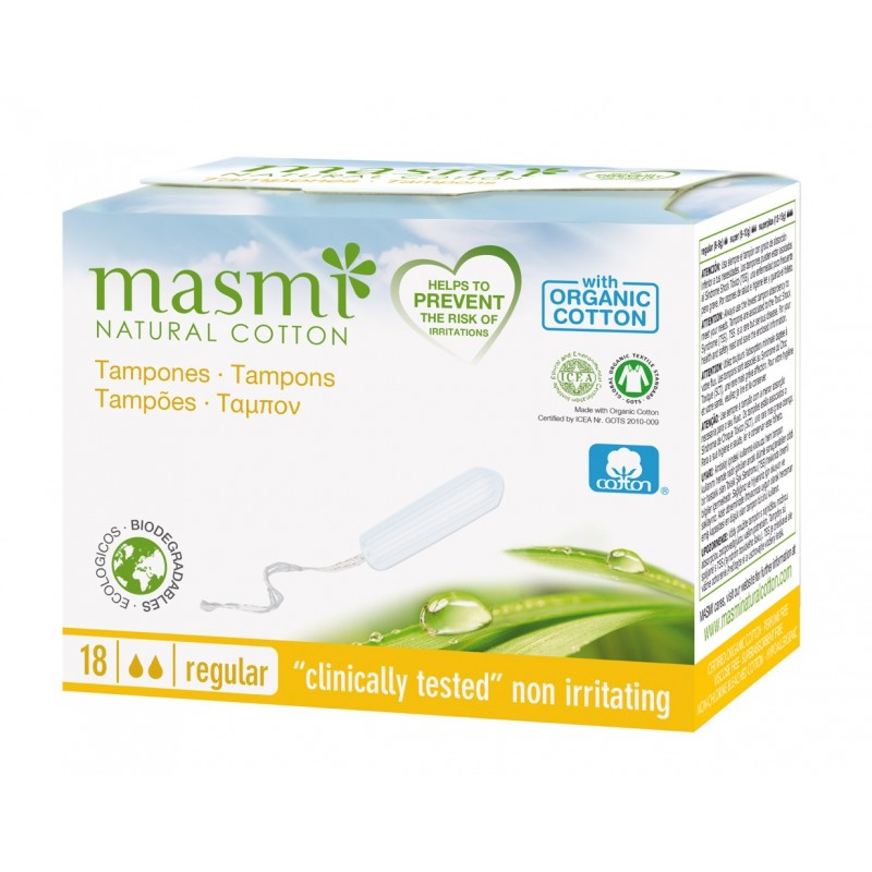 ORGANIC NON-APPLICATOR REGULAR TAMPONS 18s BODY & SKIN CARE
