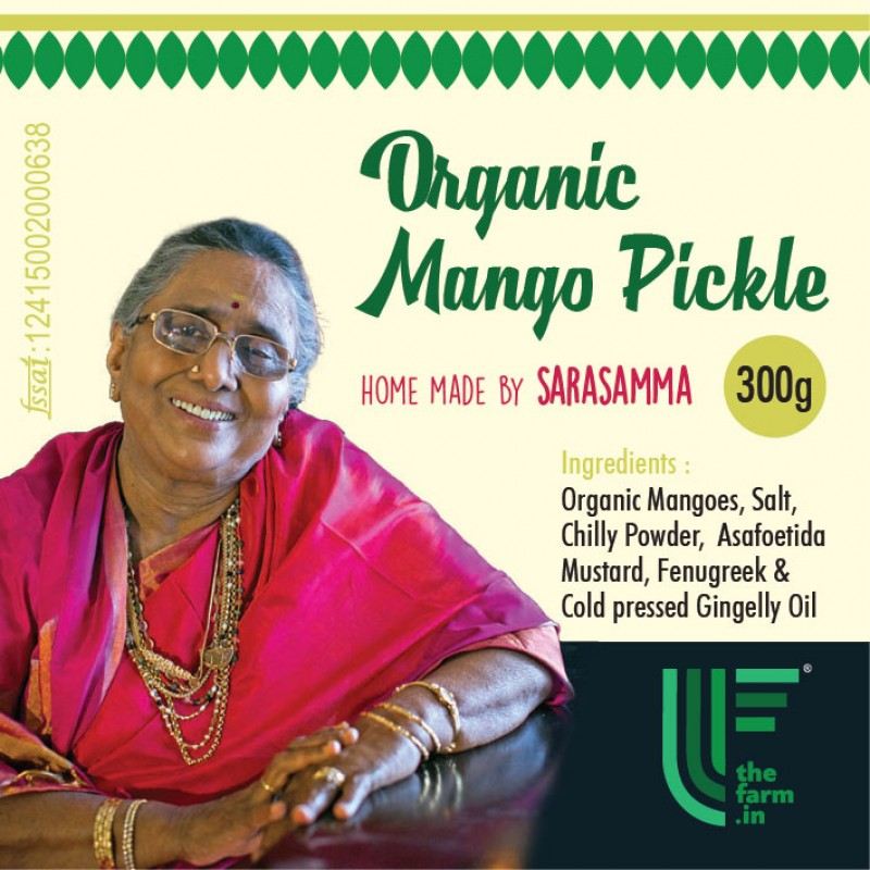 HOME MADE ORGANIC MANGO PICKLE 300g