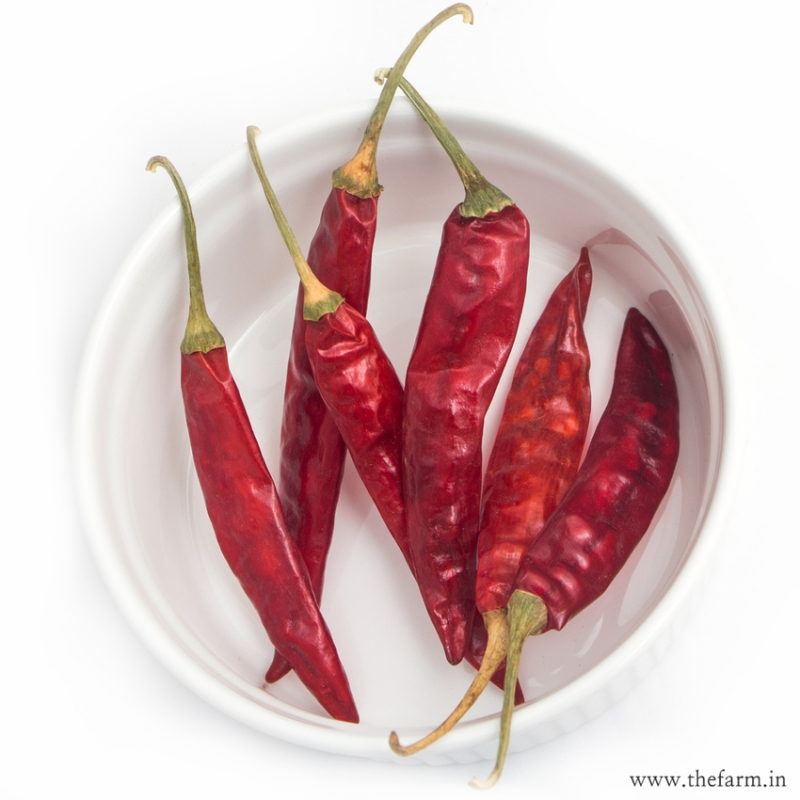DRIED LONG CHILLIES 100G SPICES